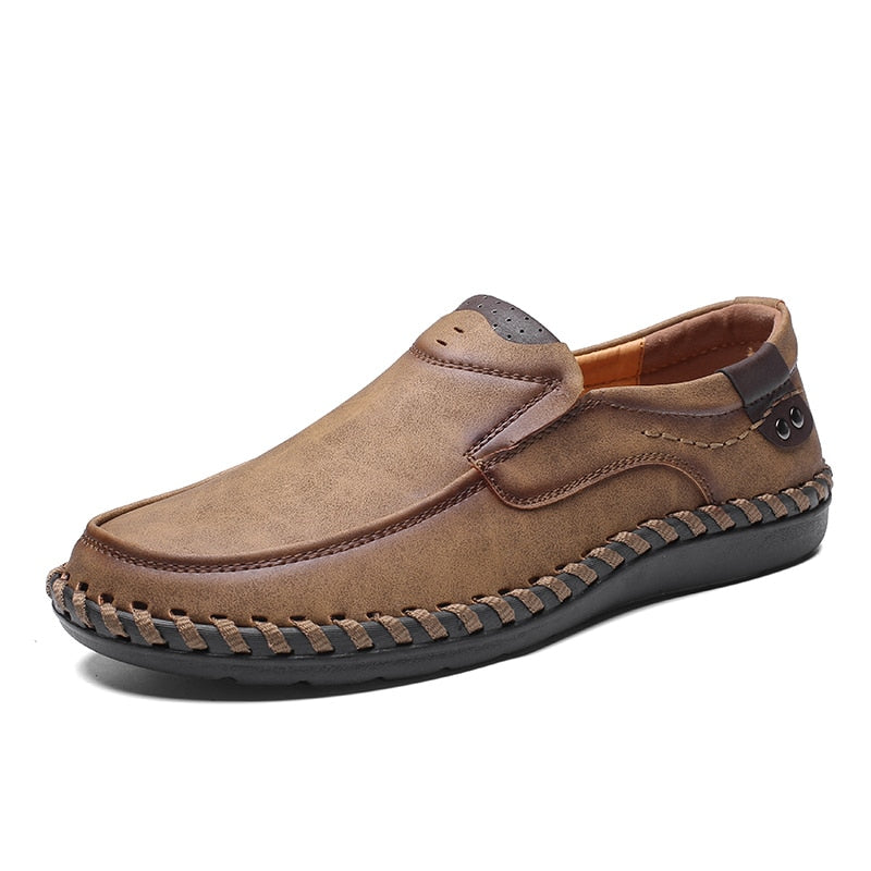 86e8be17726 ... Men Casual Driving Shoes 2019 Leather Loafers Shoes Men Fashion Handmade  Soft Breathable Moccasins Flats Slip ...