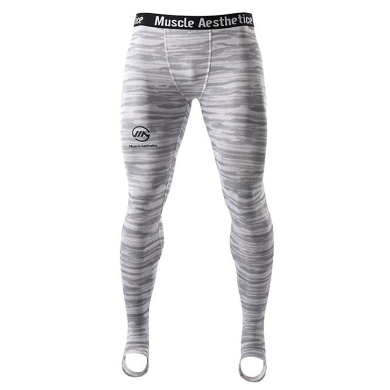 0b62df867a6828 ... Men Compression Tight Leggings Running Sports Male Gym Fitness Pants  Quick dry Trousers Workout Training Crossfit ...