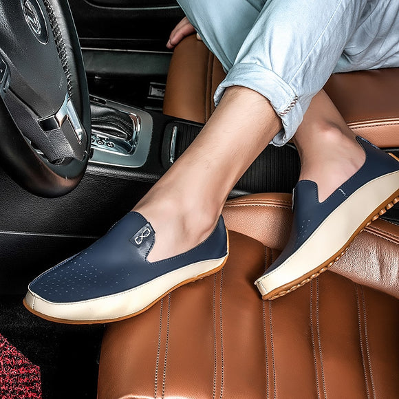 Men Shoes Loafers Flats Leather Spring and Autumn Casual Boat Walking Driver Footwear Driving Shoes Zapatos Hombre Big Size