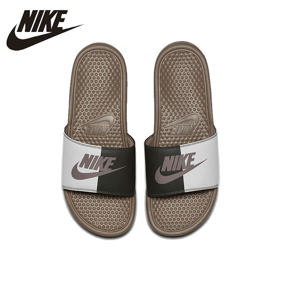 NIKE Benassi JDI Beach & Outdoor Sandals Summer Stability Quick-Drying Anti-chlorine Sneakers For Men Shoes#343880