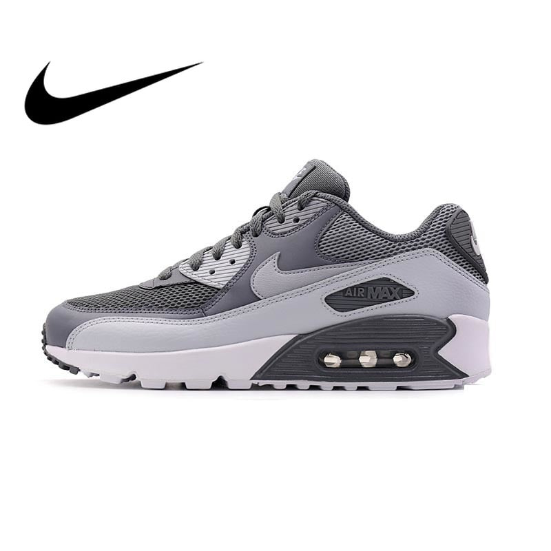 Original Authentic NIKE Men s AIR MAX 90 ESSENTIAL Breathable Running Shoes  Sneakers Sport Outdoor Comfortable 537384 ... 7885d809fe