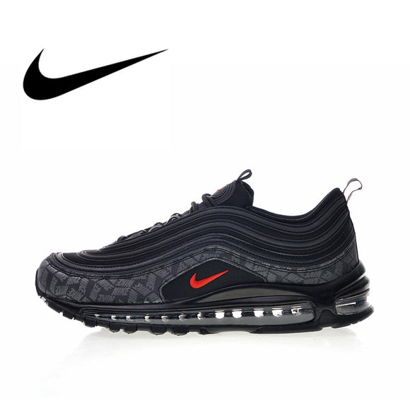 Original Authentic Nike Air Max 97 Reflective Logo 2018 Men Shoes Running Shoes Sport Outdoor Sneakers New Arrival AR4259-001
