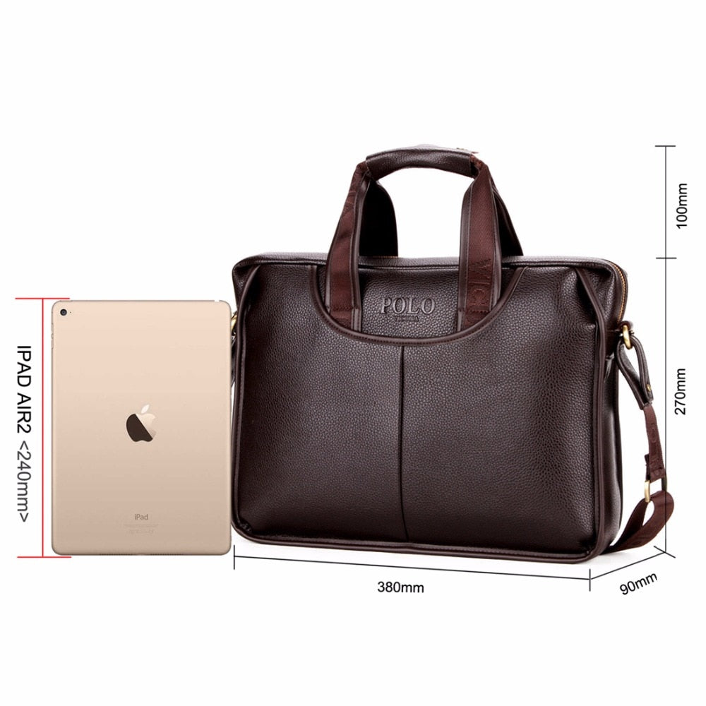 e581bc8ee ... VICUNA POLO Classic Design Large Size Leather Briefcases Men Casual  Business Man Bag Office Briefcase Bags ...