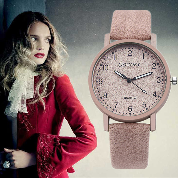 Women's Watches Gogoey Top Brand Fashion Women Wrist Watch Women Watches Leather Ladies Watch Clock zegarek damski reloj mujer