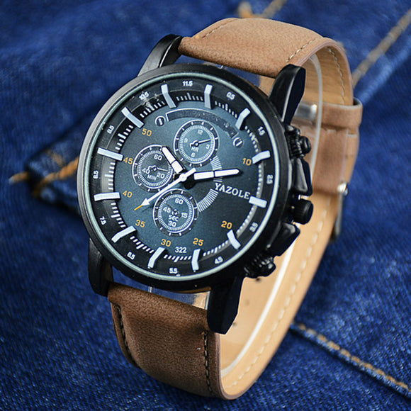 YAZOLE Men's Sport Watch Mens Watches Top Brand Luxury Luminous Men's Watch Men Watch erkek kol saati Clock relogio masculino