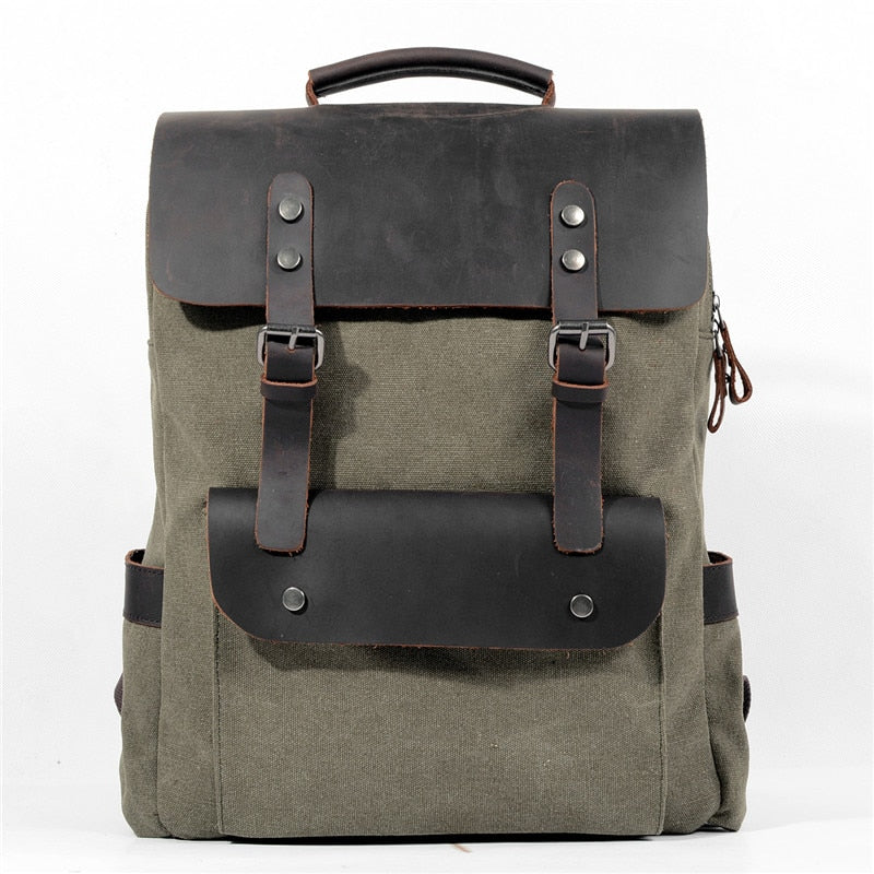 ... YUPINXUAN Europe Canvas Leather Backpacks Mens 14