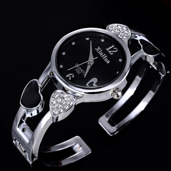 heart shaped bracelet watch women watches luxury rhinestone women's watches ladies watch clock relogio feminino reloj mujer