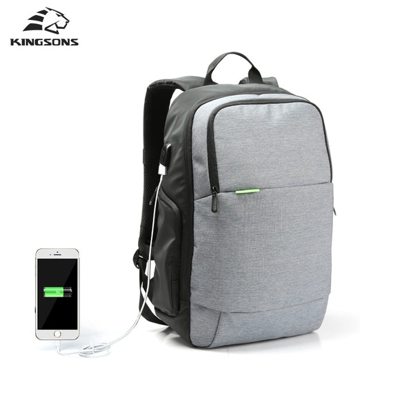 ba5c3a3888 Kingsons Brand External USB Charge Laptop Backpack Anti-theft Notebook  Computer Bag 15.6 inch for