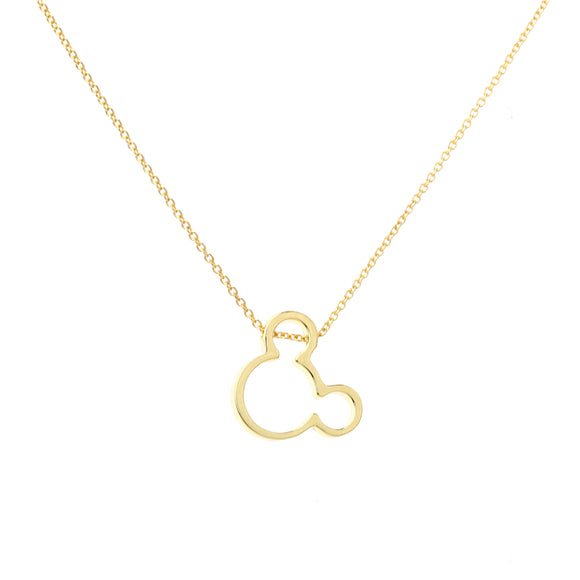 2017 Fashion cute Mickey Pendant Necklace baby mouse girls jewelry women necklace High Quality Birthday gift