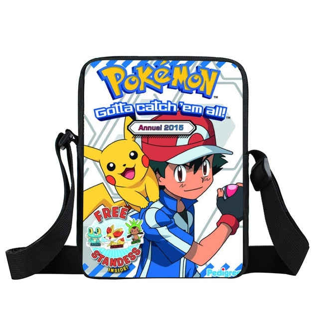 66d8af8ac2 ... Anime Pokemon Go Mini Messenger Bag Pokeball Children School Bags Boys  Girls Cross Bags Pikachu Shoulder ...