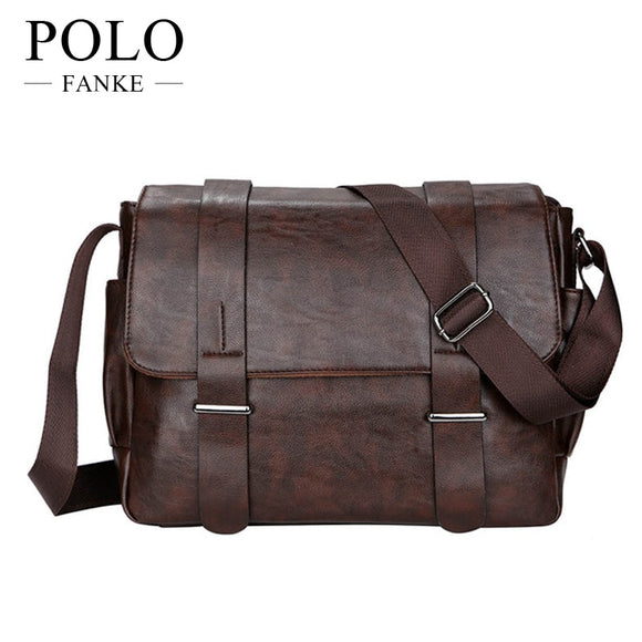 Christmas Gift 2017 New PU Leather Men s Shoulder Bags Matt Feature Casual Crossbody  Messenger Bag for 0939bac2c9512