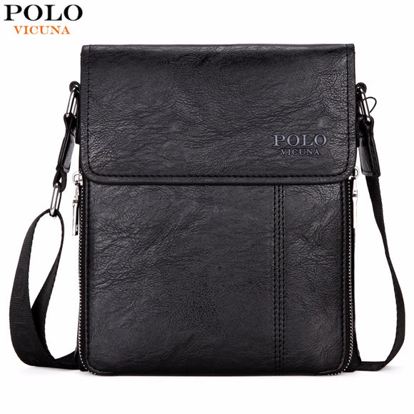 VICUNA POLO Brand Business Men Shoulder Bag Promotion Casual Brand Man bag  Leather Messenger Bags Crossbody 093ce924bc2ea