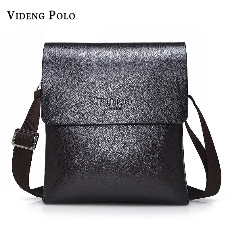 f285f1a49e VIDENG POLO Hot Sell Brand Solid Double Pocket Soft Crossbody Bag Leather  Men Messenger Bag Small ...