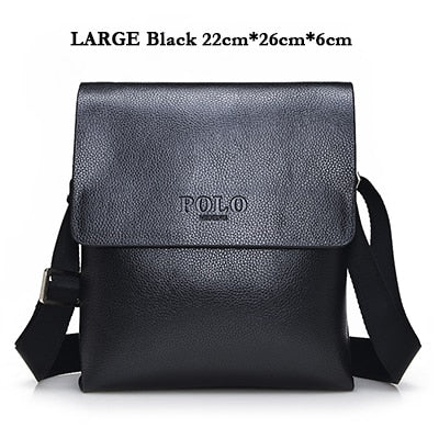 49787fbdfb ... VIDENG POLO Hot Sell Brand Solid Double Pocket Soft Crossbody Bag  Leather Men Messenger Bag Small ...