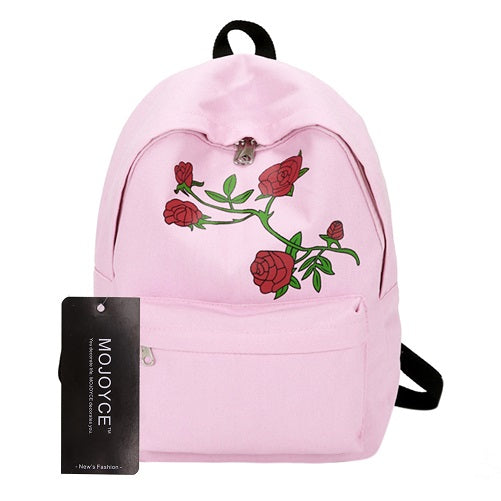 282ee2c46631 ... Men Canvas Heart Backpack Cute Women Rose Embroidery Backpacks for Teenagers  Women s School Bags Mochilas Rucksack ...