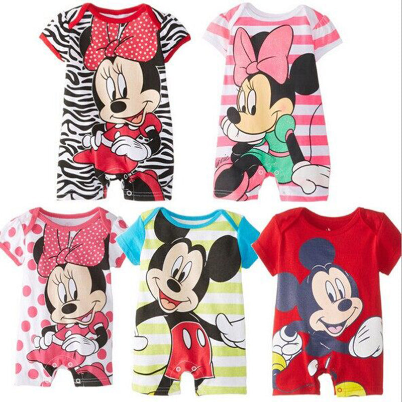 8f5b66f4 Summer Baby Rompers Cotton Baby Girl Clothes Mickey Baby Boy Clothes  Newborn Baby Clothes Roupas Bebe ...