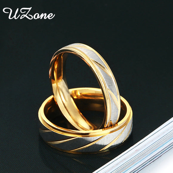 9f70cc6bbdb Hot Sale Simple Classic Wedding Ring For Women Men Gold-Color Stainless  Steel Couple Ring