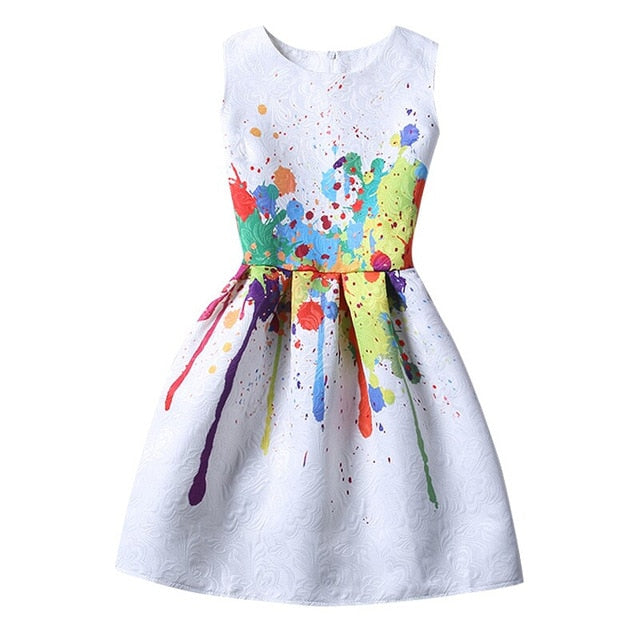 d0bb90f54a64 ... Fashion Girls Summer Dress 2018 Teenagers Girls Party Gowns Dress Age  Size 6 7 8 9 ...