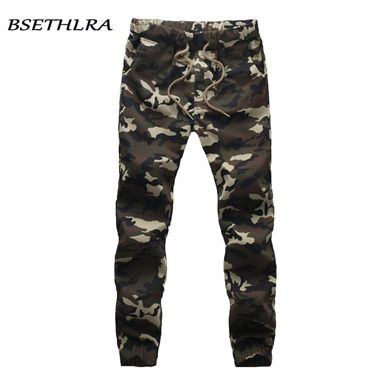 ffbc5e2e2 BSETHLRA 2018 New Joggers Pants Men Camouflage Military Pure 100% Cotton  Spring Autumn Harem Pant ...