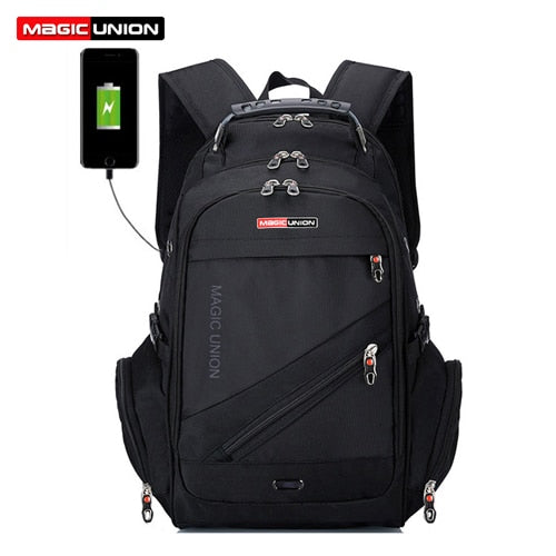 aebd8ddb8ed0 ... MAGIC UNION Brand Design Men s Travel Bag Man Swiss Backpack Polyester  Bags Waterproof Anti Theft Backpack