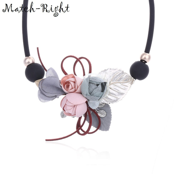 Match-Right Women Necklace Statement Necklaces & Pendants Flower and Leaf Necklace For Women Jewelry SP253
