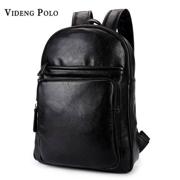 d89ba64bfc3d9 VIDENG POLO 2017 New Leather Men Brand Backpack Large Capacity Man Travel  Bags High Quality Fashion