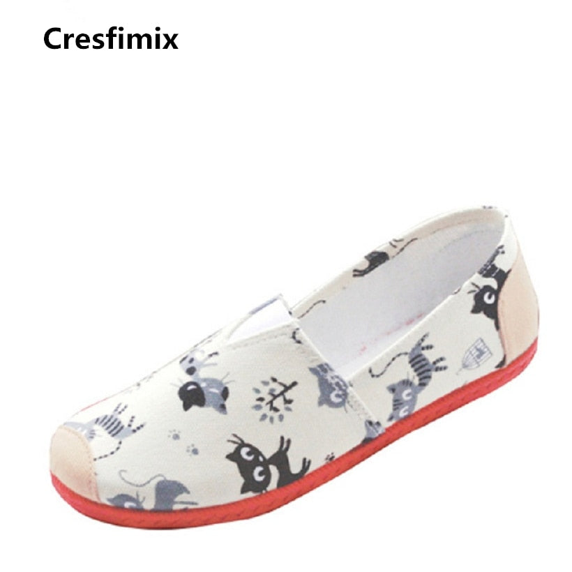9ddf63bef7f6 Cresfimix sapatos femininas women cute animal printed soft flat shoes female  spring summer soft loafers lady ...