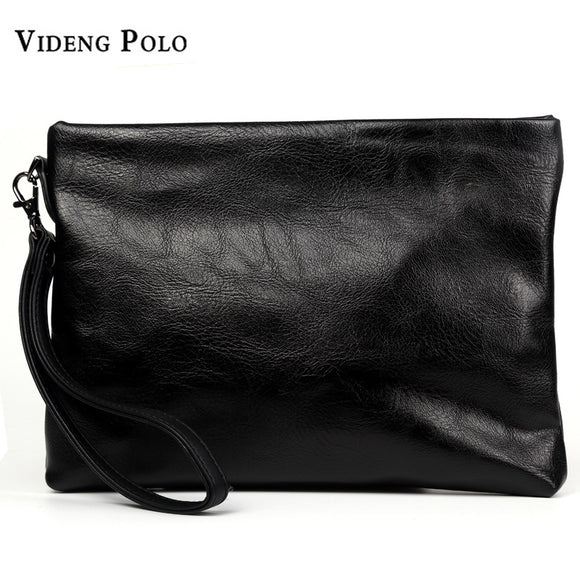aae86b3a3895 VIDENG POLO 2017 Fashion Design Large Capacity Organizer Wallet Casual Men  Clutch Wallet Leather Handy Bag