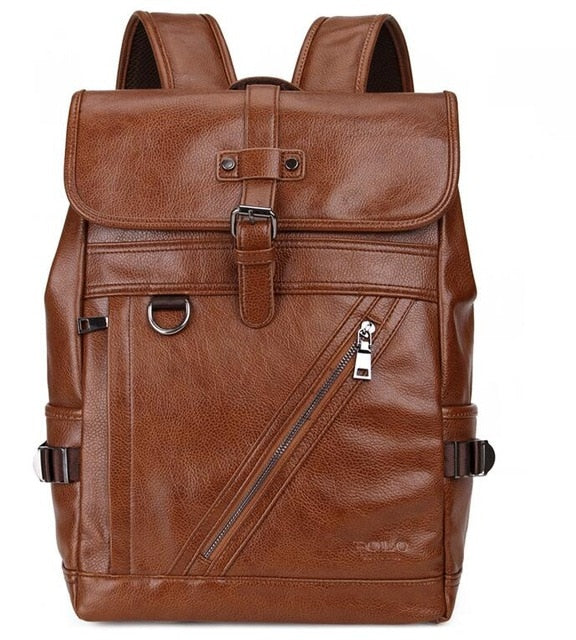 db434cbc97 ... VICUNA POLO Large Capacity Men Leather Backpack For Travel Casual  Backpack High Quality Man Travel Multifunction ...