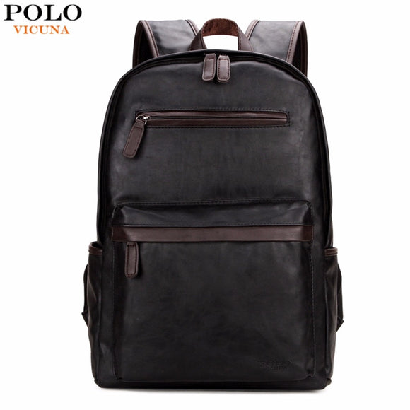 f697c71379 VICUNA POLO Brand Leather Mens Laptop Backpack Casual Daypacks For College  High Capacity Trendy School Backpack