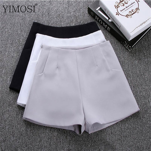 2018 New Summer Women Shorts Skirts Casual High Waist Shorts Female Black White Short Pants Hot Fashion Lady Shorts For Women