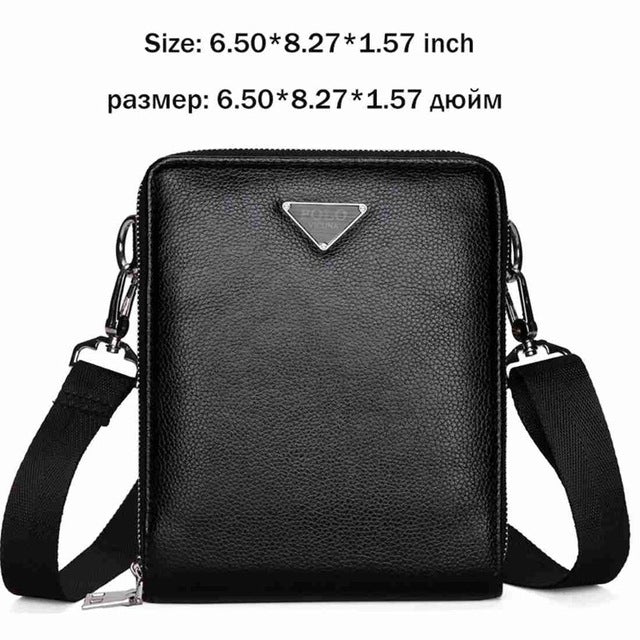 75809330ae ... VICUNA POLO Luxury Brand Bags Leather Men s Single Shoulder Bag Double  Pocket Men Bags Men Casual ...