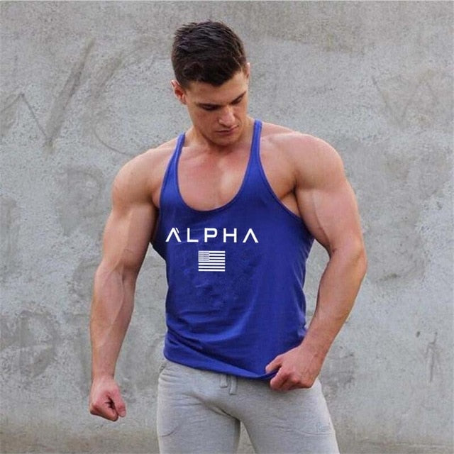 c31d0a07f97 ... Summer Gyms Fitness Bodybuilding Tank Tops Stringer fashion mens  Crossfit clothing Loose breathable sleeveless shirts Vest ...