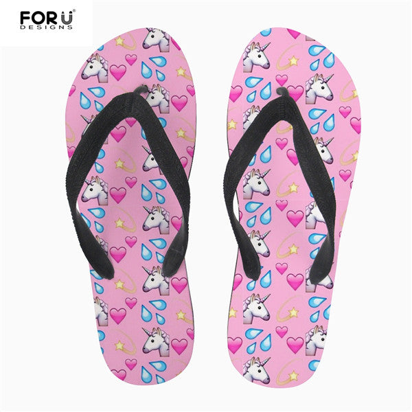 89a3a0d7e7866 ... FORUDESIGNS Cute Pet Denim Cat Printed Women Slippers Summer Beach Rubber  Flip Flops Fashion Girls Cowboy ...