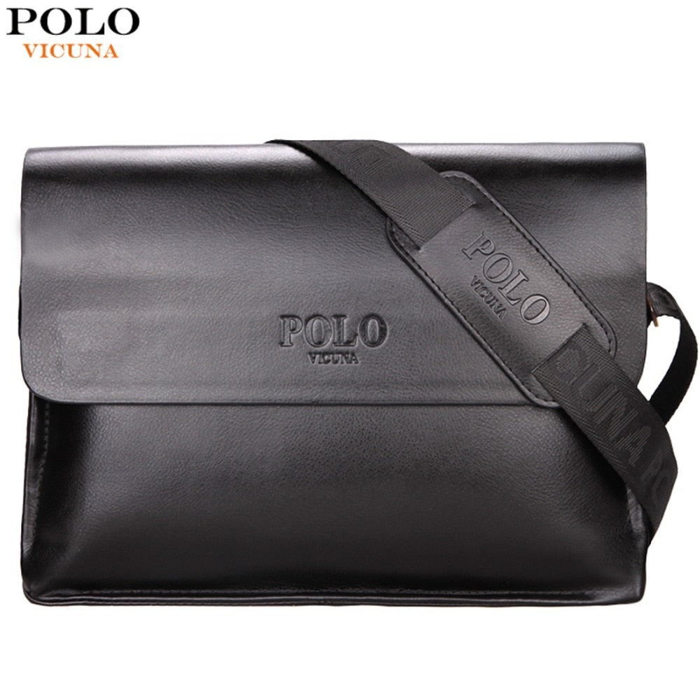 2b675eaabf6 VICUNA POLO Leather Men Bag Business Casual Messenger Bag High Quality  Men's Brand Black/Brown ...