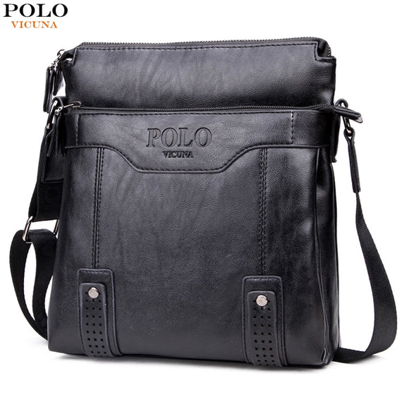 cb9bf8773d15 VICUNA POLO Vintage Hollow Out Business For Men Retro Antique Messenger Bags  Leisure Leather Mens Bags