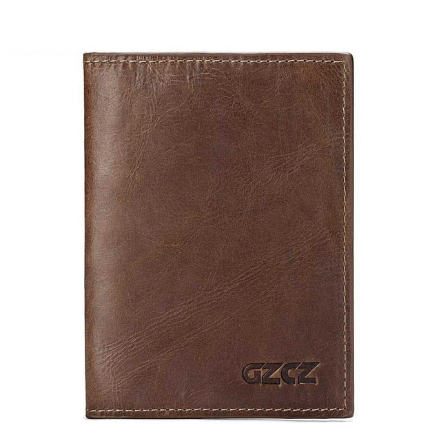 729eeab2012c GZCZ Genuine Leather Super Thin Men Wallet Luxury Brand Passport Cover ID  Business Card Holder Travel Credit For Male Purse Case