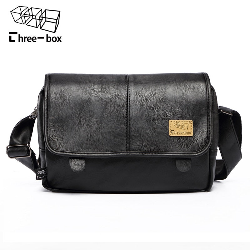 911225d928 Three-box Brand Fashion PU Leather Men Messenger Bag Vintage Men s Bags  Crossbody Bags For ...