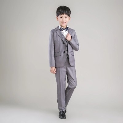 5daf16b78a4 ... 2018 new fashion gray baby boys suit kids blazers boy suit for weddings  prom formal spring