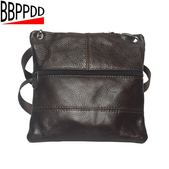 11718c81b66 BBPPDD Vintage Men s Bag Shoulder Crossbody Bags For Men Genuine Messenger  Bag Leather Small Male Brown