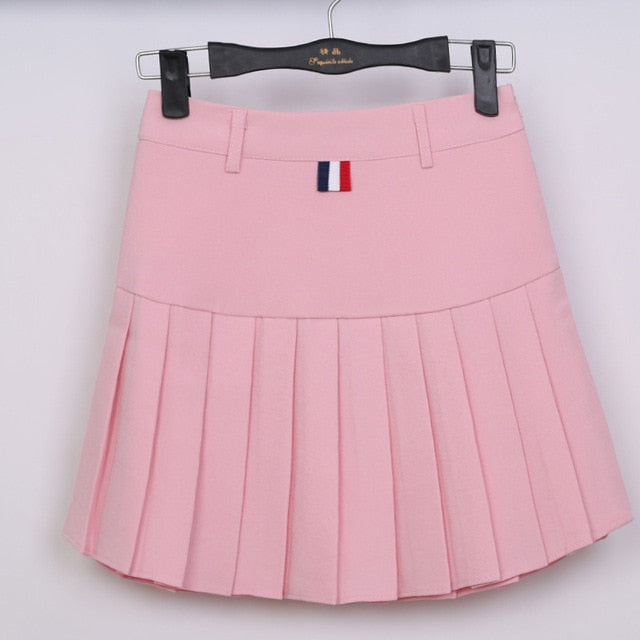 b970ed7da4 ... 2018 high waist pleated skirts Kawaii Harajuku Skirts women girls  lolita a-line sailor skirt ...