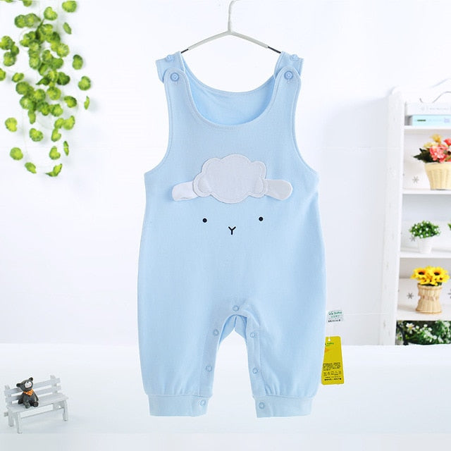 5396a87629e ... Cute Baby Girl Summer Romper Jumpsuit Sleeveless Baby Overalls Newborn  Clothes Boy Rompers Toddler For Baby ...
