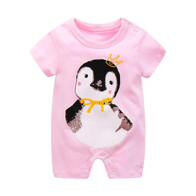 f86f09cfb 2018 Summer New Style Short Sleeved Girls Dress Baby Romper Cotton ...