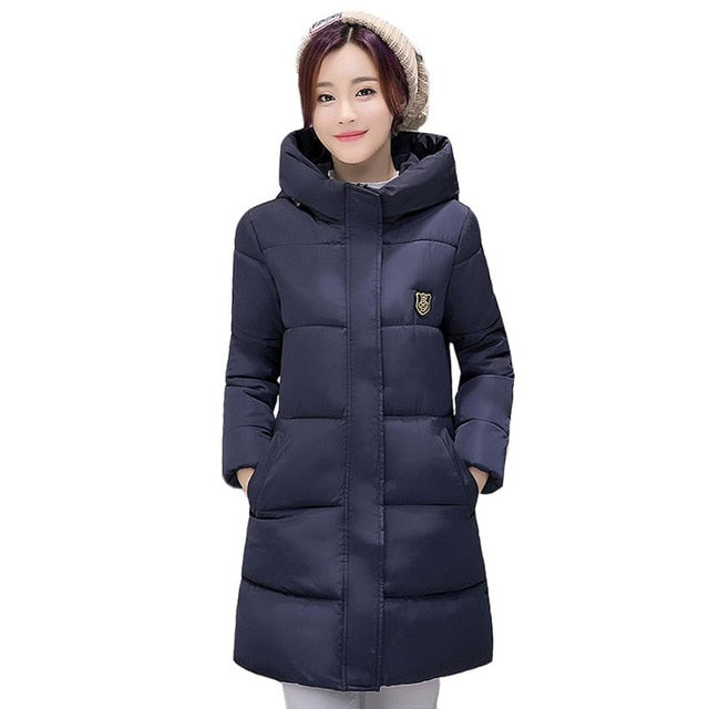 e20f9f07abc9b ... 2018 New Long Parkas Female Women Winter Coat Thickening Cotton Winter  Jacket Womens Outwear Parkas for