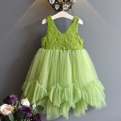 6676aac826f40 Fancy Kids Unicorn Tulle Dress for Girls Embroidery Ball Gown Baby ...