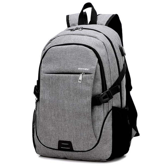 Men Backpacks Women canvas Bags Laptop 15.6 Inch USB Backpack Large Capacity casual travel backpack 2018 new