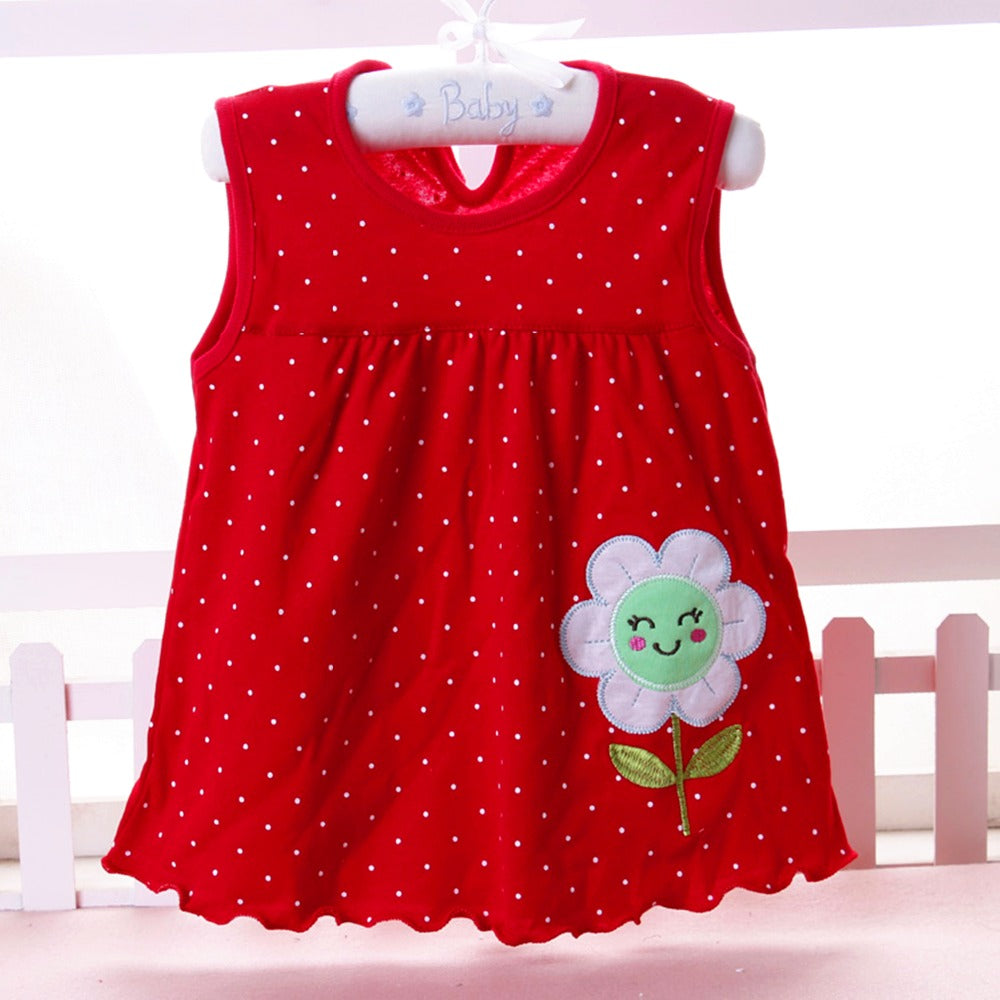 e05ddfbf22c1 Baby Girls Dress Baby girl summer clothes 2018 Baby Dress Princess 0-2years  Cotton Clothing ...