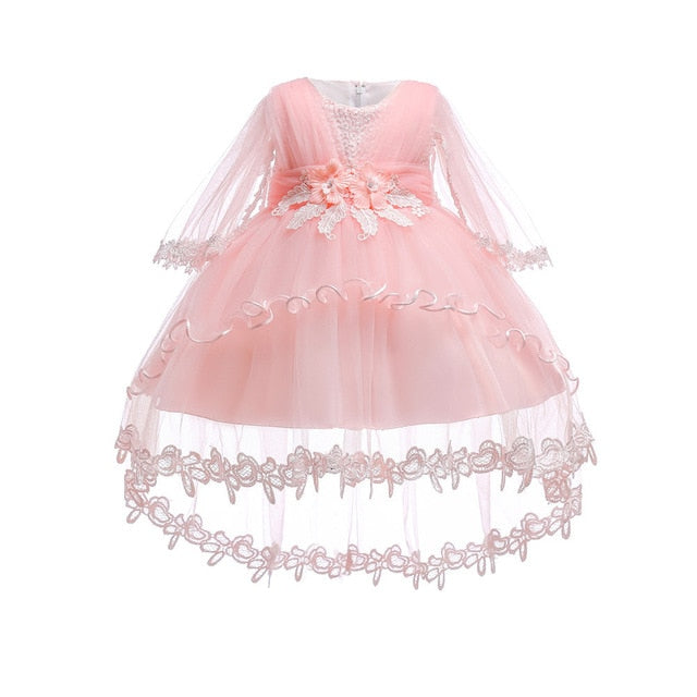 3d989dfc6 Flower Girl Dress For Wedding Baby Girl 0-2 Years Birthday Outfits ...