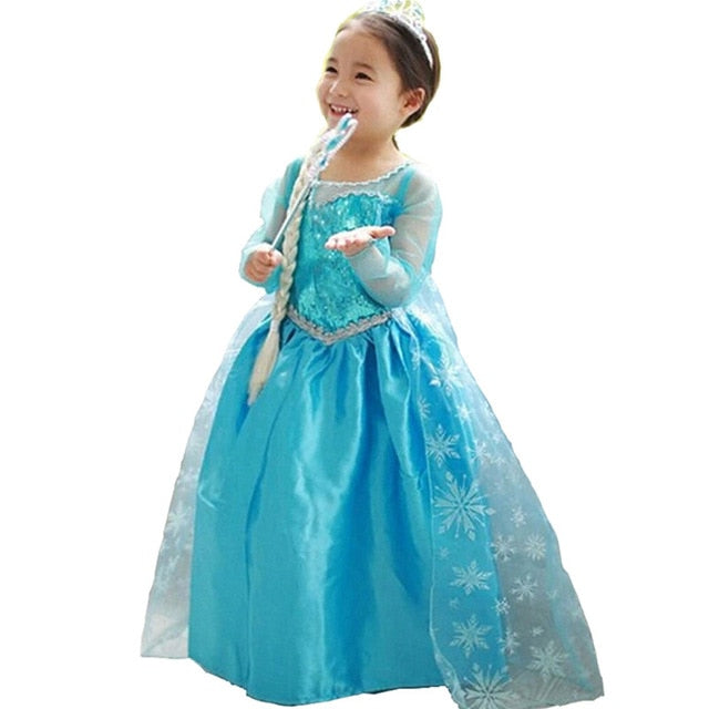 f0abe5fa90ce1 Children Fancy Dresses Princess Aurora Ball Gown For Girls Halloween  Cosplay Costume Kids Party Wear Tulle Dress for Role-play