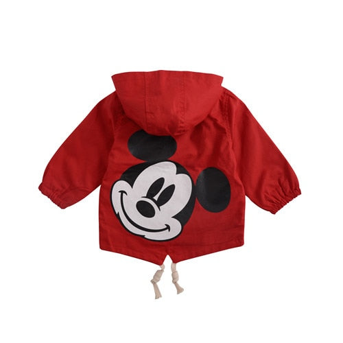 629513904 ... Angeltree Spring Boys Girls Jackets For Children Hooded Cute Mickey  Windbreaker Kids Coats Baby Clothes Outerwear ...